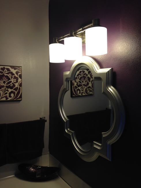 Vanity area--after