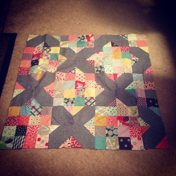 Quilt in Progress--January 10